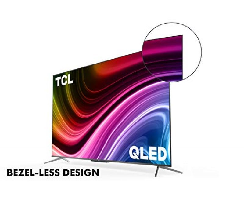 TCL 138.8 cm (55 inches) 4K Ultra HD Certified Android Smart QLED TV (Metallic Black) (2020 Model) | with Built in Woofer