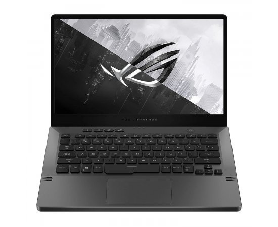 """ASUS ROG Zephyrus G14 GA401IV (2020) 14"""" FHD 120Hz Gaming Laptop with 6GB RTX 2060 Max Q Graphics (Ryzen 7 4800HS, 16GB RAM, 1TB SSD, Windows 10, Office H&S 2019, Backlit, WiFi 6, Sleeve, 1.7 Kg) Eclipse Gray with Anime Matrix"""