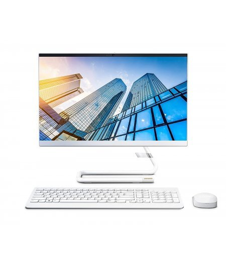 Lenovo IdeaCentre AIO 3 21.5-inch Full HD All in One Desktop (AMD Athlon Silver 3050U, 8GB RAM, 1TB HDD, Windows 10, Office H&S 2019, Integrated AMD Radeon Graphics) Foggy White