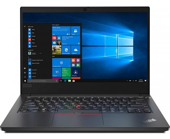 Lenovo ThinkPad E14 14-inch Full HD IPS Thin and Light Laptop (10th Gen Core i3-10110U, 4GB RAM, 256GB SSD, Windows 10, Office H&S 2019, Finger Reader, HD Camera + Shutter, 1.77 kg, 1 Year Onsite Warranty) Black