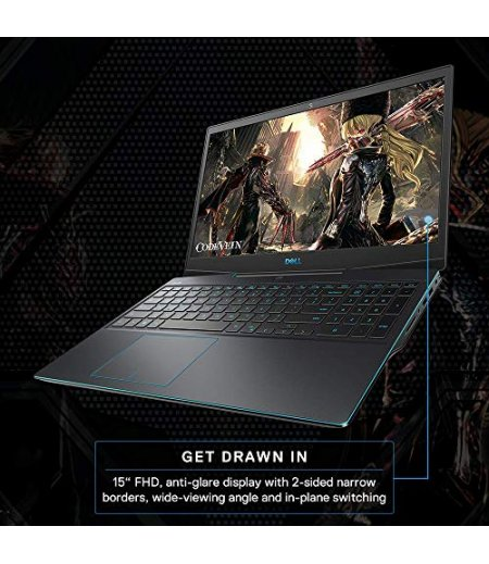 Dell G3 3500 Gaming Laptop 15.6-inch FHD 120 Hz Display (10th Gen Core i5-10300H, 8GB RAM, 512GB SSD, 4GB 4GB NVIDIA 1650 Ti Graphics, Windows 10, Office H&S 2019) Eclipse Black