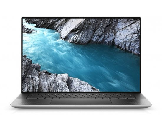 "Dell XPS 9500 15.6"" UHD+ AR InfinityEdge 500 nits Touch Laptop (10th Gen i7-10750H, 16GB RAM, 512GB SSD, 4GB Nvidia 1650 Ti Graphics, Windows 10, Office H&S 2019, Backlit Keyboard, Fingerprint Reader) Platinum Silver"