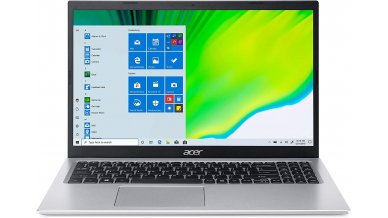 """Acer Aspire 5 A515-56 Thin and Light Laptop (11th Gen Core i3-1115G4, 4GB RAM, 1TB HDD, 15.6"""" Full HD Display, Windows 10, Office H&S 2019, 1.65Kg) Pure Silver"""