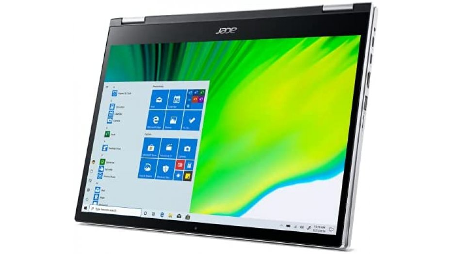 """Acer Spin 3 SP313-51N Convertible Laptop (11th Gen Core i5-1135G7, 8GB RAM, 512GB SSD, 13.3"""" 2560 x 1600 IPS Touch Display, Intel Iris Xe Graphics, Windows 10, Office H&S 2019, Wi-Fi 6, Backlit KB) Pure Silver 2-In-1 Laptops"""