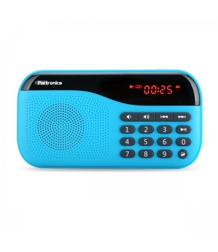 Portronics Speaker With FM radio & MicroSD card Support POR142 Blue