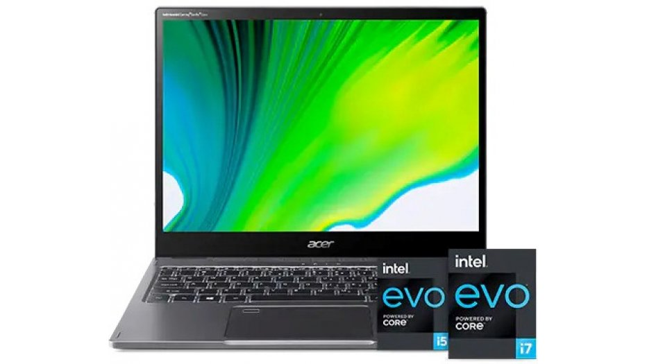 """Acer Spin 5 SP513-55N Convertible Laptop with Active Stylus Pen ( 11th Gen Core i7-1165G7, 16GB RAM, 512GB SSD, 13.5"""" 2256x1504 IPS VertiView Display, Iris Xe Graphics, Windows 10, Office H&S 2019) Steel Gray 2-In-1 Laptops"""
