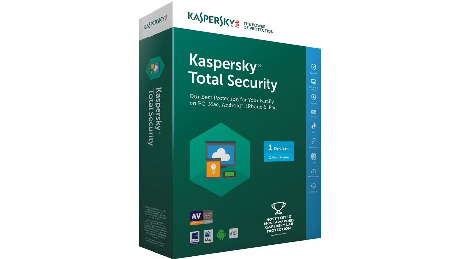 Kaspersky Total Security Multi Device - 1 User, 1 Year (CD) Software   Solution