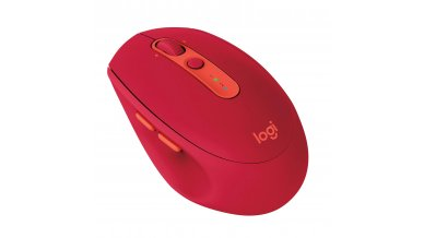 Logitech M590 Silent Wireless Mouse (Multi-Device Silent Bluetooth Mouse for Windows/Mac) - Ruby Red