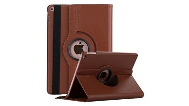 Smart 360 Degree Rotating Stand Case Cover For New iPad 9.7 inch 2018/2017 5th 6th Generation Model - color may vary