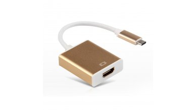 4Kx2K Full HD 1080P USB 3.1 Type C to HDMI Supports UHD 4k Hdtv Adapter Cable with Aluminum Case- Gold