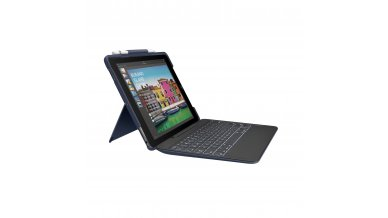 Logitech iPad Pro 10.5 inch Keyboard Case   Slim Combo with Detachable, Backlit, Wireless Keyboard and Smart Connector (Blue)