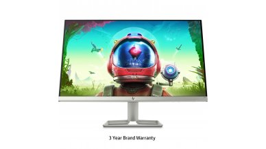 HP 24 inch (61.0 cm) Ultra-Slim LED Backlit Gaming Monitor - Full HD, 75 Hz Refresh Rate, AMD Free Sync,Anti-Glare, IPS Panel with VGA and HDMI Ports - HP 24F Display