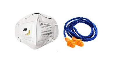 3M 9504 INV Disposable Respirator with 1270 Corded Reusable Earplugs