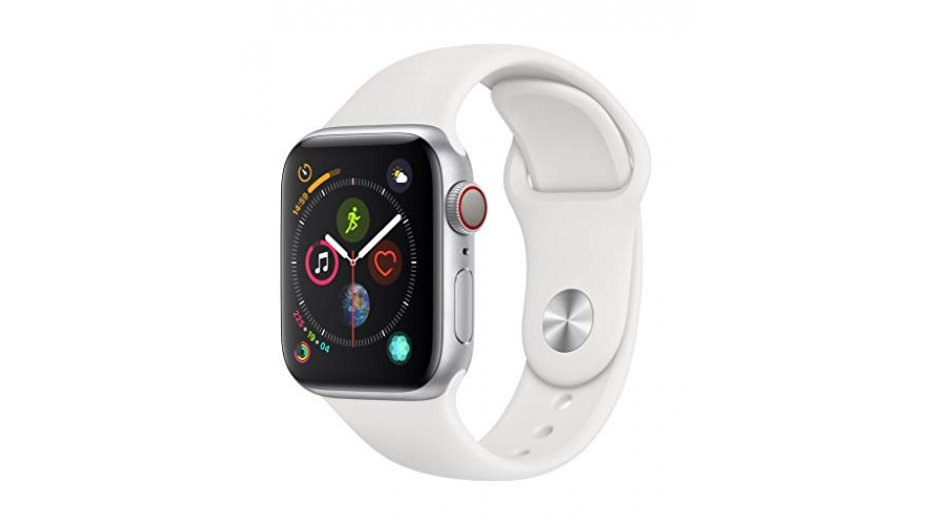 AppleWatch Series4 (GPS+Cellular, 44mm) - Space Gray Aluminium Case with Black Sport Band iWatch
