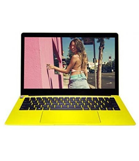 AVITA LIBER NS14A2IN221P 14-inch Laptop (8th Gen Core i5 - 8250U, 8GB RAM, 512GB SSD, Window 10, Intel UHD 620 Graphics, Finger Print Reader, Backlit Keyboard), Flowers on Yellow