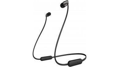 Sony WI-C310 Wireless in-Ear Headphones with 15 Hours Battery Life, Quick Charge, Magnetic Earbuds, Tangle Free Cord, Matt Finish, Bluetooth Ver 5.0, Headset with mic for Phone Calls – (Black)