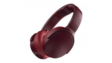Skullcandy Venue ANC Over-Ear Headphones Wireless (Moab/Red/Black) with Active Noise Cancellation headphones wireless with In build Tile Bluetooth Tracker. Up to 24 hours of good battery life with Rapid Charge.