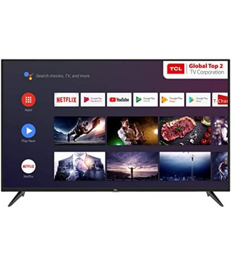 TCL 108 Cm (43 Inch) Ultra HD Android TV (43P8B, Black)