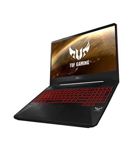 "ASUS TUF FX505GM-BQ344T Laptop (8th Gen I5-8300H, 8GB RAM, 512GB SSD, 6GB GTX 1060 Graphics, 15.6"" Display 60Hz, Illuminated Chiclet Keyboard- Red, Windows 10) Black"