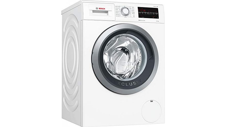 Bosch 10 kg Inverter Fully-Automatic Front Loading Washing Machine WAU28460IN, White, Inbuilt Heater) Home Appliances
