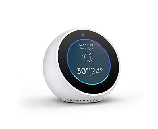 Echo Spot – Smart Alarm Clock with Alexa - White