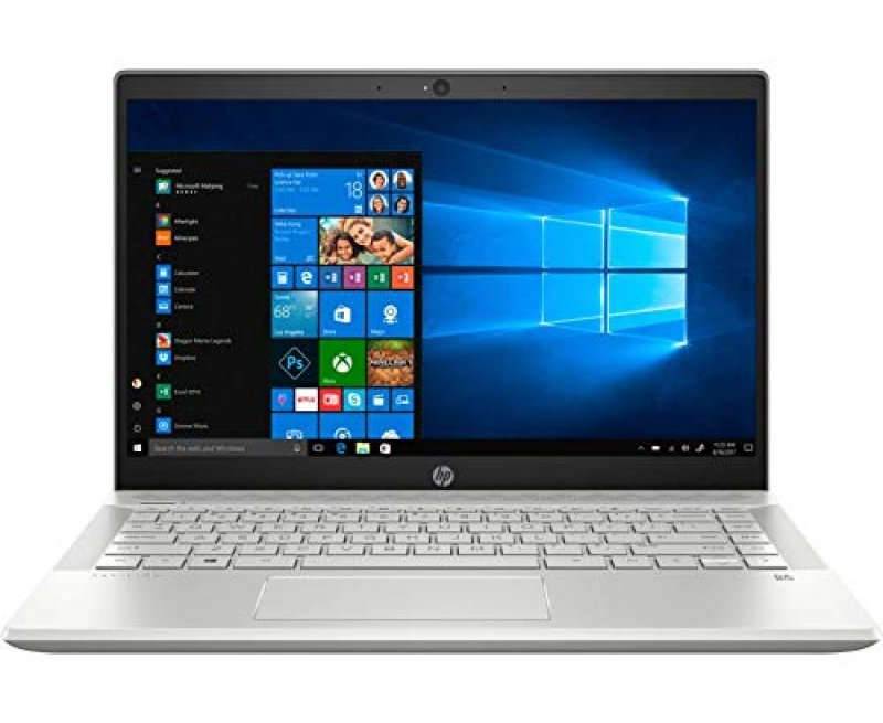 "HP Pavilion 14 Laptop with Alexa built-in (10th Gen Core i5-1035G1, 8GB RAM, 1TB HDD + 256GB SSD, 14"" Full HD, Windows 10, Office H & S 2016, Backlit Keyboard) Mineral Silver"