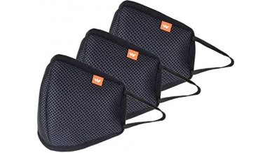 Wildcraft HypaShield reusable outdoor protection mask W95 (Pack of 3), Size L (Adults 70+ Kgs)