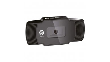 HP w200 HD 720p/30 Fps Webcam, Built-in Mic, Plug and Play, Wide-Angle View for Video Calling, Skype, Zoom, Microsoft Teams