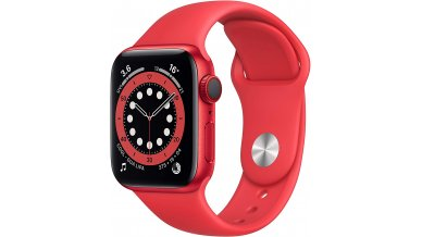 Apple Watch Series 6 GPS + Cellular, 40mm (PRODUCT)RED Aluminium Case with (PRODUCT)RED Sport Band - Regular