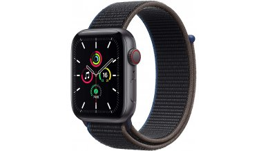 Apple Watch SE GPS + Cellular, 40mm Space Gray Aluminium Case with Charcoal Sport Loop