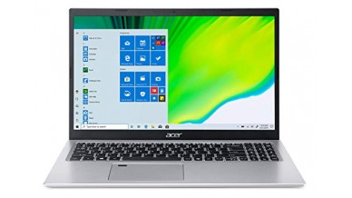"""Acer Aspire 5 A515-56 Laptop (11th Gen Core Ci3-1115G4, 4GB RAM, 1TB HDD, Intel UHD Graphics, 15.6"""" FHD IPS Display, Windows 10, Office H&S 2019) Pure Silver"""