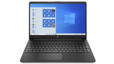 """HP Notebook 15s Thin and Light Laptop with Alexa (10th Gen Core i3-1005G1, 4GB RAM, 1TB HDD, 2GB Dedicated Graphics, 15.6"""" Full HD, Windows 10, Office H&S 2019, 1.74 kg) Jet Black"""
