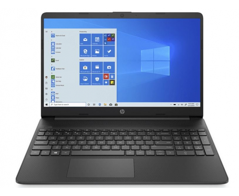 """HP Notebook 15s Thin and Light Laptop with Alexa (10th Gen Core i3-1005G1, 4GB RAM, 1TB HDD, 15.6"""" Full HD, Windows 10, Office H&S 2019, 1.74 kg) Jet Black"""