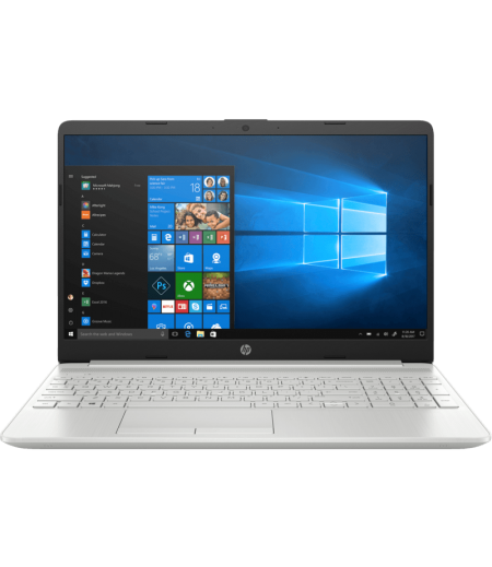 HP 15s-dr0002tx Laptop (8th Gen i5 8265U, 8GB, 1TB + 256SSD, 2GB NVIDIA GeForce MX110, Finger Print Reader, Windows 10, Backlit Keyboard, Office H & S 2016) Silver