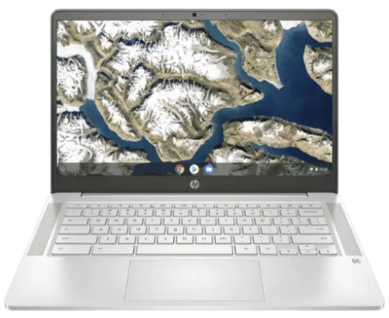 """HP Chromebook 14a-na0002TU (Intel Celeron N4020 N4020, 4GB RAM, 64GB SSD + 100GB Cloud + 256GB expandable, Chrome OS, G-suite, MSO apps, Google Assistant, 14"""" HD Touch, Micro Bezel) Ceramic White"""