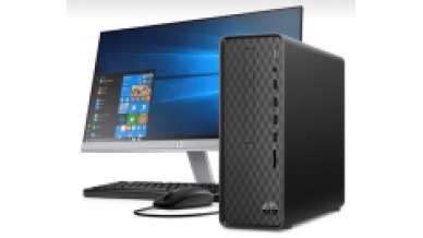"""HP Slimline Tower TP01-0118in (9th Gen Core i7-9700F, 8GB RAM, 256 SSD + 2TB HDD, WLAN, BT, M.2 Slot, 2GB Nvidia GT730 Graphics, 22Y 21.5"""" IPS Monitor, HDMI Out, DVDRW, Win 10, Office H & S 2019, 3 YRS Warranty)"""
