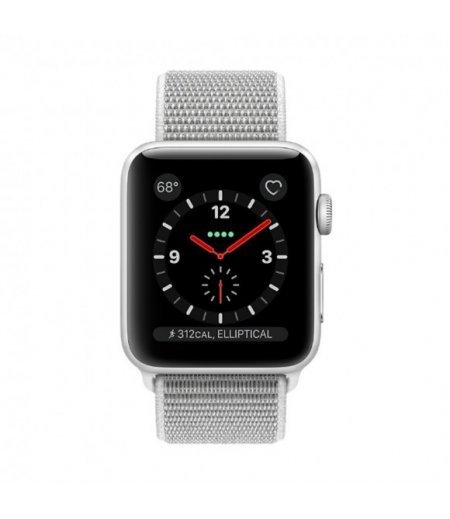 Apple Watch Series 3 42mm Silver Aluminium Case with Seashell Sport Loop