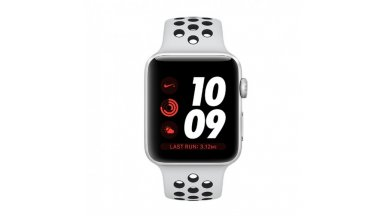 Apple Watch Nike+ GPS Cellular, 42mm Silver Aluminum Case with Pure Platinum/Black Nike Sport Band