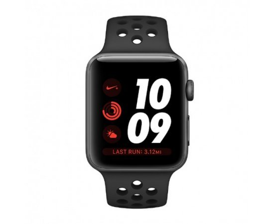 Apple Watch Nike+ GPS Cellular, 42mm Space Grey Aluminium Case with Anthracite/Black Nike Sport Band