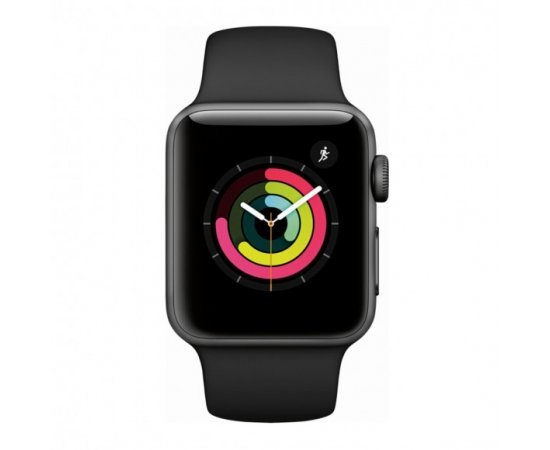Apple Watch Series 3 - GPS+Cellular - Space Gray Aluminum Case with Gray Sport Band - 38mm