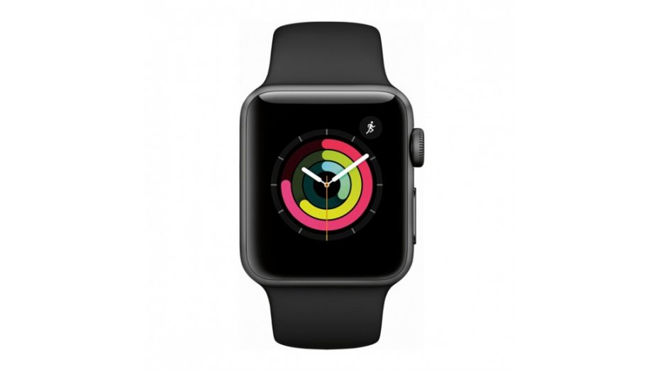 Apple Watch Series 3 - GPS+Cellular - Space Gray Aluminum Case with Gray Sport Band - 38mm iWatch