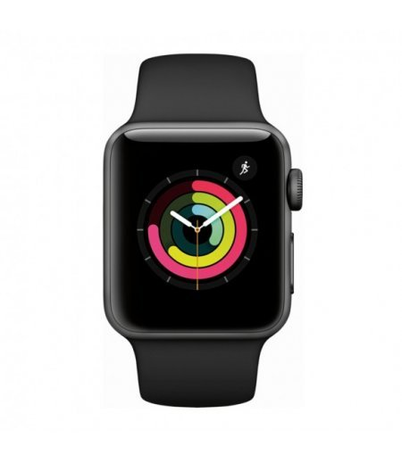 Apple Watch Series 3 (GPS + Cellular), 42mm Space Grey Aluminium Case with Grey Sport Band