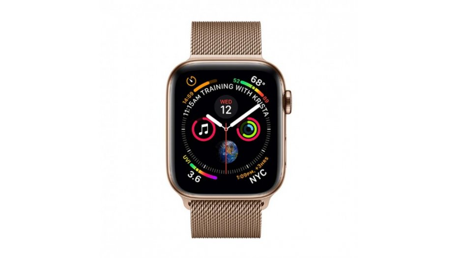 Apple Watch Series 4 GPS + Cellular, 40mm Gold Stainless Steel Case with Gold Milanese Loop Smart Watches