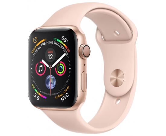 Apple Watch Series 4 (GPS) 4.4 cm Gold Aluminum Case with Pink Sand Sport Band