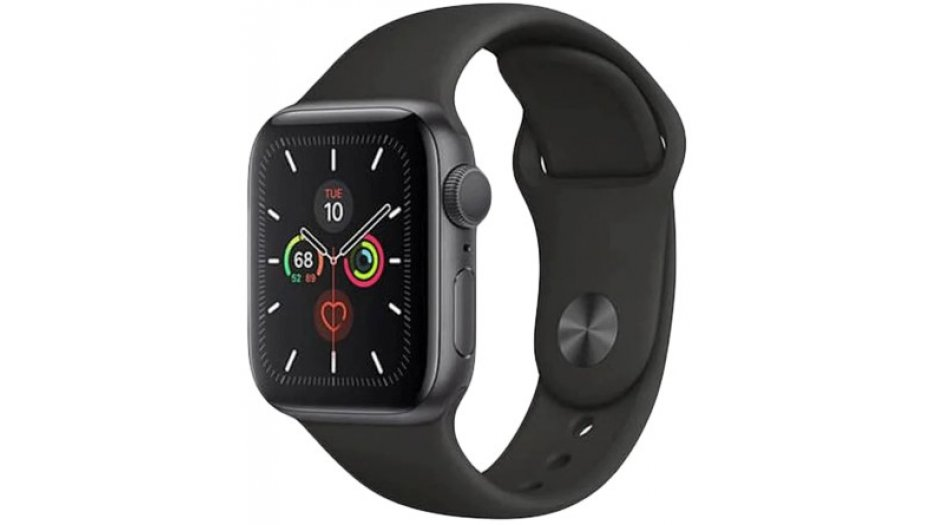 Apple Watch Series 5 GPS, 40mm Space Grey Aluminium Case with Black Sport Band Smart Watches
