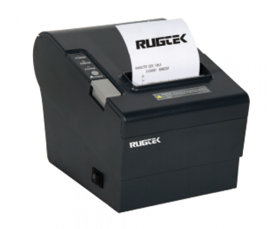 Rugtek RP80US POS Printer (Fast Thermal Rugged, 250mm/sec, USB + Serial 2 in 1 interface, End Paper Sensor, Windows and OPOS driver support, Inbuilt CR port / 1 Year Onsite Warranty)