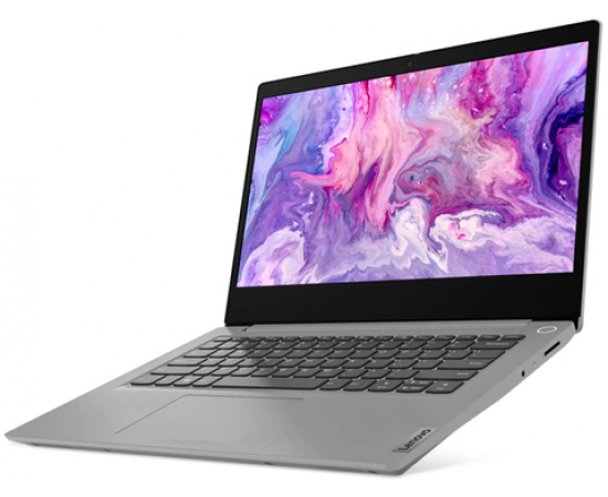 "Lenovo Notebook IdeaPad Slim3-14IIL Laptop (10th Gen Core i3-1005G1, 4GB RAM, 1TB HDD, 14"" HD AG, DOS, 1 Year Lenovo Onsite Warranty) Platinum Grey"