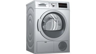 Bosch 7KG, Duo tronic, Wool finish, Stainless steel drum, Touch LED display, Anti-vibration design, Silver