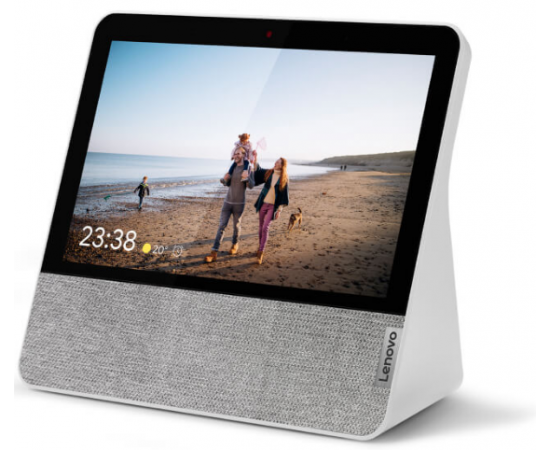 "Lenovo CD-17302F Smart Display 7 with the Google Assistant (MediaTek 8167S 1.5 GHz, Dual Band WIFI & MIMO, 2 x 1.5"" 5W Stereo Speaker, 1x Passive radiator, 1GB RAM, 4GB Storage, 7"" SD (1024*600), 2MP Front Camera)"