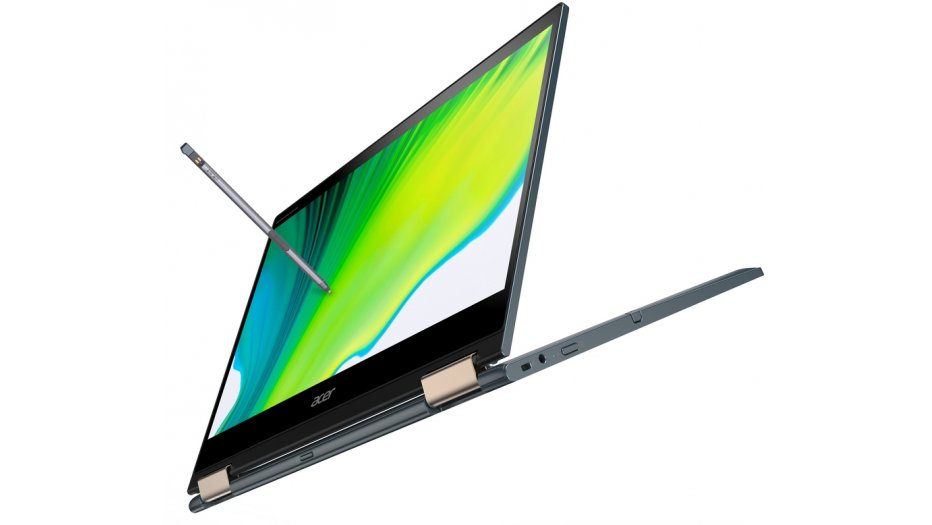 """Acer Spin 7 5G SP714-61NA Laptop (Qualcomm Snapdragon SC8180XP, 8GB RAM, 512GB UFS, 14"""" FHD IPS Touch w/pen, Qualcomm Adreno 685 Graphics, Windows 10 Pro) Steam Blue 2-In-1 Laptops"""